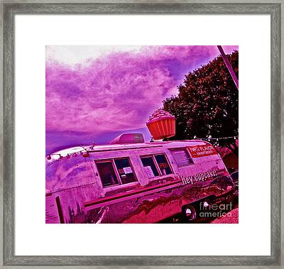 The Pink Cupcake Paradise Trailer Framed Print