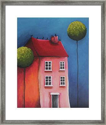 The Pink House Framed Print by Lucia Stewart
