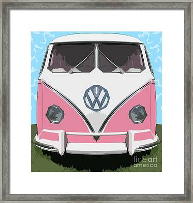 The Pink Love Bus Framed Print