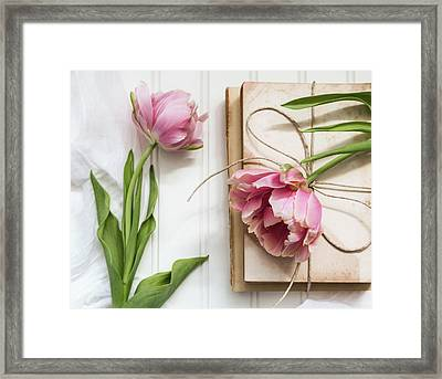 Framed Print featuring the photograph The Pink Tulips by Kim Hojnacki