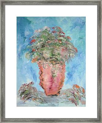 The Pink Vase Framed Print by Edward Wolverton