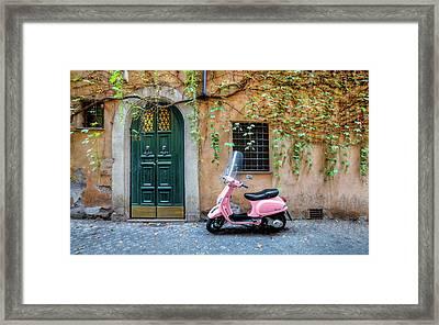 The Pink Vespa Framed Print by Al Hurley