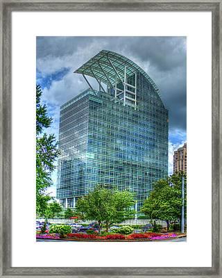 The Pinnacle Reflections Office Buildings Buckhead Atlanta Art Framed Print