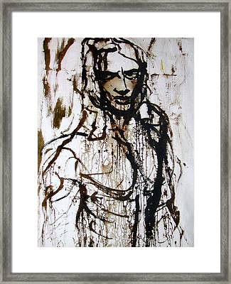 Framed Print featuring the painting The Pioneer by Jarmo Korhonen aka Jarko