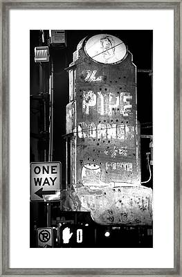 The Pipe Corner Framed Print