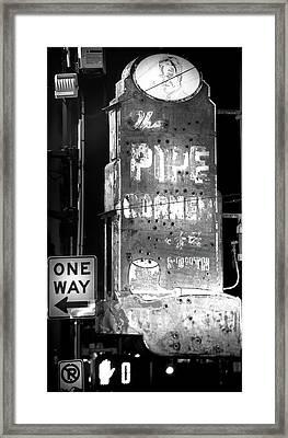 The Pipe Corner Framed Print
