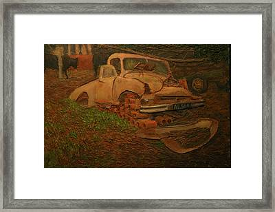 The Pipe Cover Framed Print
