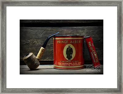 The Pipe Smoker Framed Print