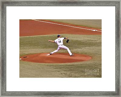 The Pitch - David Price Framed Print by John Black
