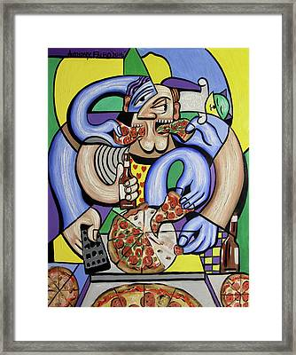 The Pizzaholic Framed Print by Anthony Falbo