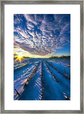 The Places Where I've Been Framed Print
