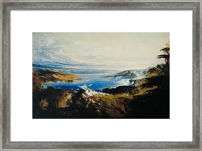 The Plains Of Heaven Framed Print by John Martin
