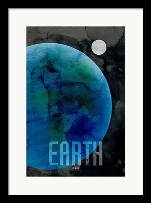 Outer Space Digital Art Framed Prints