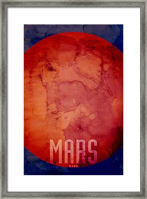 The Planet Mars Framed Print by Michael Tompsett