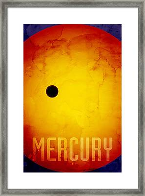 The Planet Mercury Framed Print by Michael Tompsett