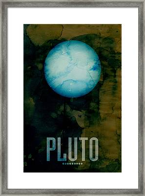The Planet Pluto Framed Print