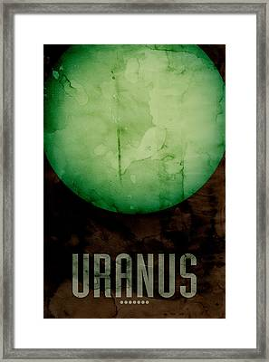 The Planet Uranus Framed Print by Michael Tompsett