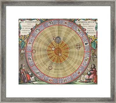 The Planisphere Of Copernicus Harmonia Framed Print