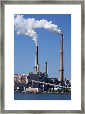 The Plant On Mt Storm Wv Framed Print by Jean Haynes