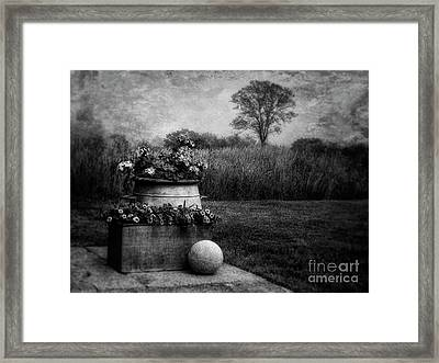 The Planter And The Field Bw Framed Print