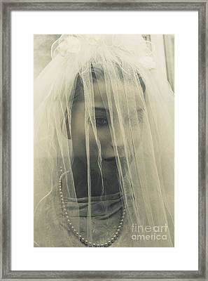 The Plastic Bride Framed Print