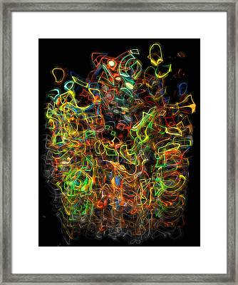The Play Of Light And Color Framed Print by Jack Zulli