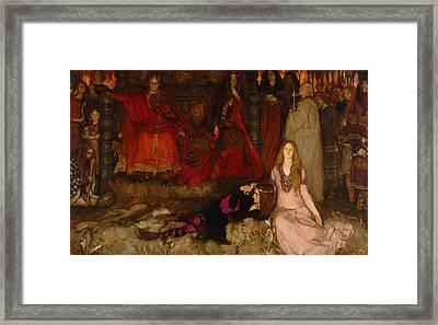The Play Scene In Hamlet - Act IIi Scene 2 Framed Print