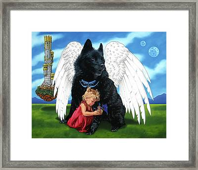Framed Print featuring the painting The Playmate by Paxton Mobley