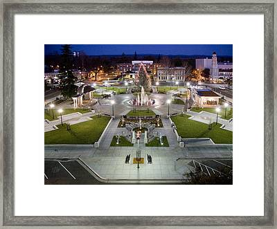 The Plaza Framed Print by Charlie Osborn