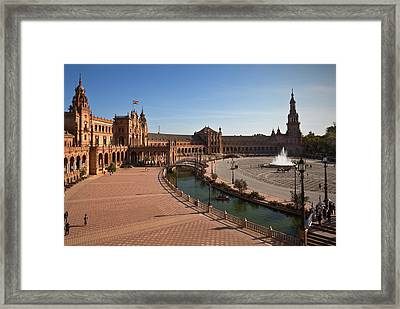 The Plaza De Espana, In Maria Luisa Framed Print