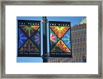 The Plaza Framed Print by Joan Bertucci