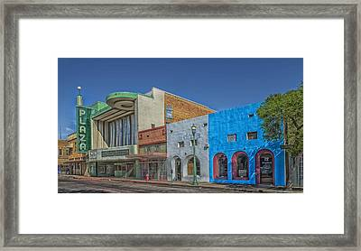 The Plaza Theatre - Laredo Texas Framed Print by Mountain Dreams