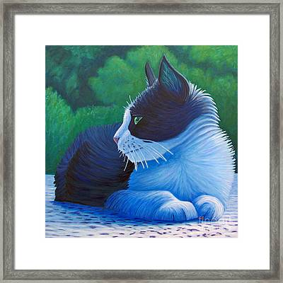 The Pleasure Of Her Company Framed Print by Brian  Commerford