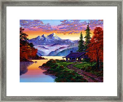 The Pleasures Of Autumn Framed Print by David Lloyd Glover