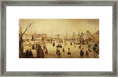 The Pleasures Of Winter Framed Print by Hendrik Avercamp
