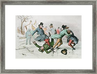 The Pleasures Of Winter Framed Print