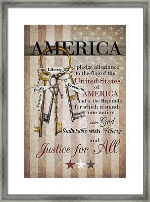 Framed Print featuring the photograph The Pledge by Robin-Lee Vieira