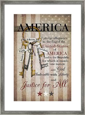The Pledge Framed Print
