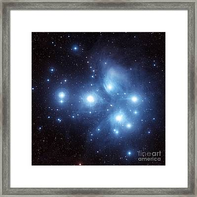 The Pleiades Star Cluster Framed Print