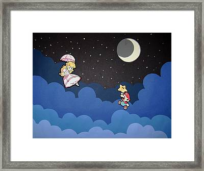 The Plumber And The Princess Framed Print