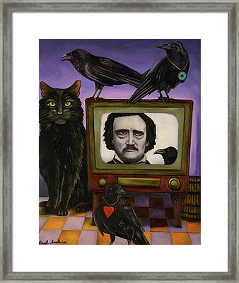 The Poe Show Framed Print by Leah Saulnier The Painting Maniac