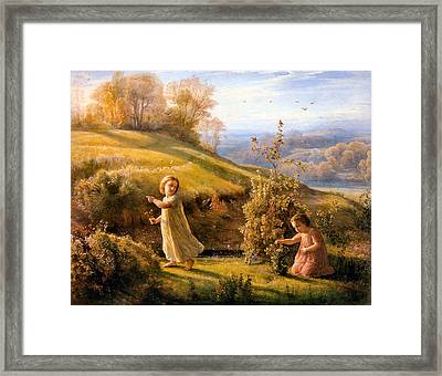 The Poem Of The Soul Spring Anne Francois Louis Janmot 1854. Framed Print