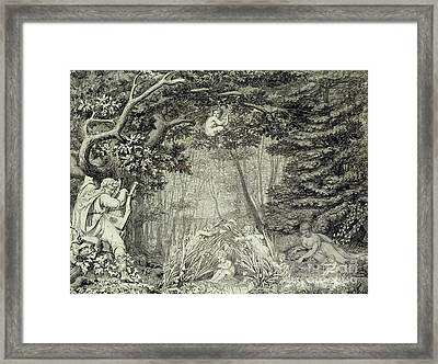 The Poet At The Spring Framed Print by Philipp Otto Runge