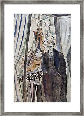 The Poet Philippe Soupault Framed Print by Robert Delaunay