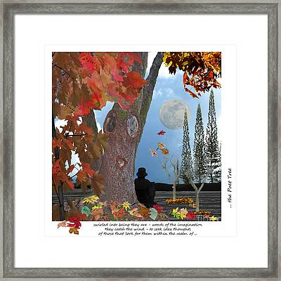 The Poet Tree Framed Print by Lozja Mattas