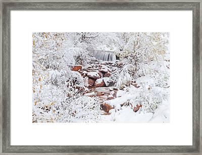 The Poetic Beauty Of Freshly Fallen Snow  Framed Print by Bijan Pirnia
