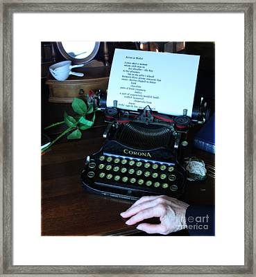 The Poet's Desk  Framed Print by Steven Digman
