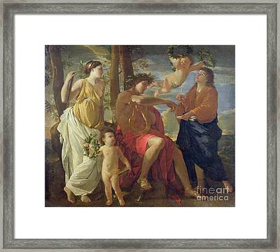 The Poets Inspiration Framed Print by Nicolas Poussin