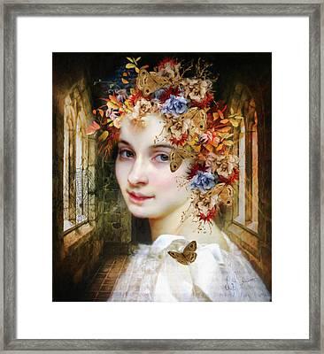 The Poets Lover Framed Print by Georgiana Romanovna