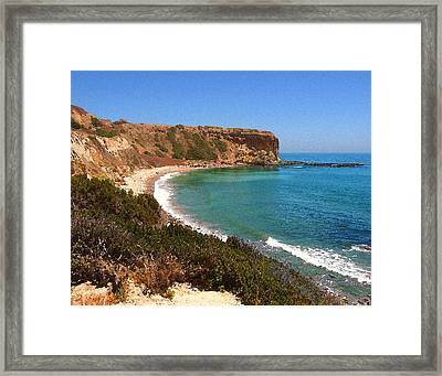 The Point At Abalone Cove Framed Print